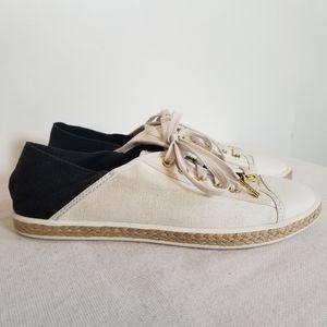 Michael Kors Kristy Canvas Leather Sneaker